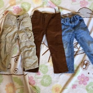 3 pairs gap sz 3T boys pants